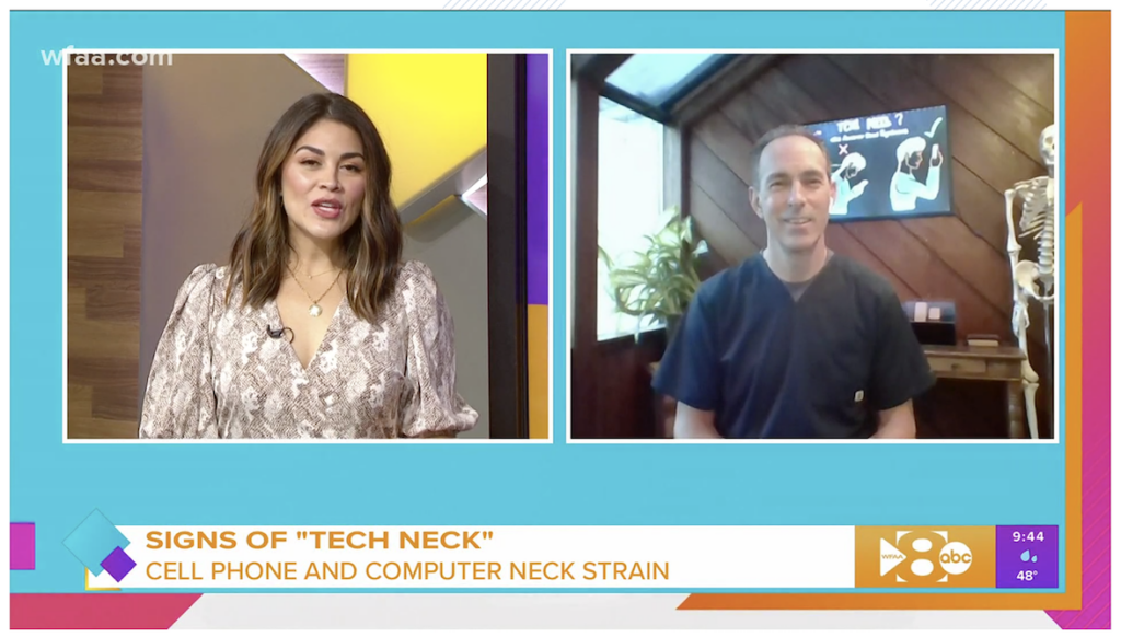 Watch Tech-neck expert Dr. Jeff Manning on WFAA